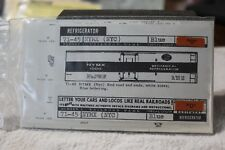 """Walthers decals """"O"""" gauge 71-45 NYMX (NYC) fridge car, new, in original pack"""