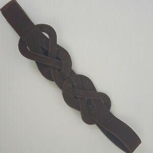 Womens Brown Plaited Waist Belt Sz M