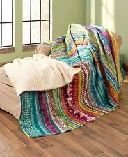 Southwest Reversible King Quilt Tribal Pattern Colorful Bedroom Bed Decor