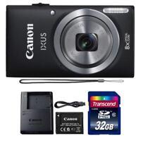 Canon IXUS 185 / ELPH 180 20MP Digital Camera Black and 32GB Memory Card