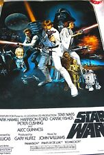 Star Wars   A New Hope  Movie Poster  printed in USA 1993 16th Anniversary