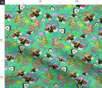 Mermaids Musubi Spam Hawaii Fabric Printed by Spoonflower BTY