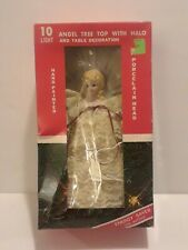Vintage Timco 10 Light Angel w/Halo Tree Top/Table Decoration Porcelain Head