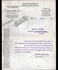 """PARIS (X°) GRAINS & FOURRAGES """"DUPUIS Freres & DUCROIRE"""" en 1927"""