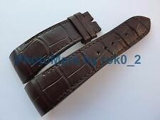 Genuine CHOPARD Alligator 22mm X 18mm DARK BROWN Band Strap for Tang Buckle.