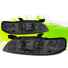 FOR 00-01 NISSAN ALTIMA SMOKED LENS CLEAR SIDE HEADLIGHT/LAMPS DRIVER+PASSENGER