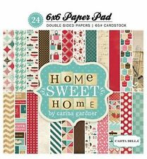 """CARTA BELLA """"HOME SWEET HOME"""" 6X6 PAPER PAD  COOKING BAKING SCRAPJACK'S PLACE"""