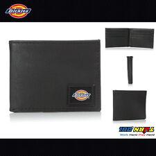 Dickies Men's Black Slim Fold Wallet with Patch Logo  31DI130004