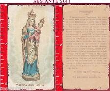 1683 SANTINO HOLY CARD MADONNA DELLE GRAZIE