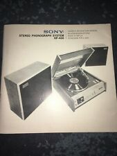 Sony Stereo Phonograph System HP-466 Owners Instruction Manual