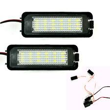 2pcs LED Number Plate Light License Rear Lamps For Superb Cabriolet Golf 4 / 5