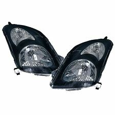 Suzuki Swift 2005-2010 Black Headlights Headlamps 1 Pair O/S And N/S