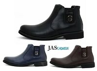 Mens Slip On Chelsea Fashion Ankle Boots Winter Shoes Casual Formal UK Size 6-11