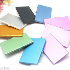 Unisex Business Name ID Credit Card Case Metal Box Holder Stainless Steel Pocket