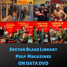 SEXTON BLAKE LIBRARY - 230 Crime & Detective Pulp Fiction Magazines ~ 2 Data DVD