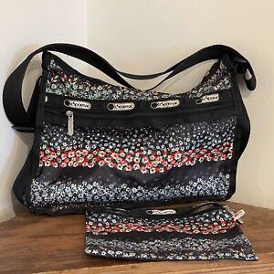 LeSportsac Floral Deluxe Everyday Shoulder Bag & Makeup Bag