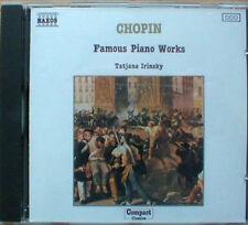 CHOPIN - FAMOUS PIANO WORKS / TATYANA IRINSKY – NAXOS CD (1988) MAZURKAS ETC