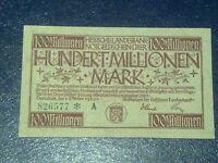 GERMANY - 100 MILLION MARK  BANKNOTE 1923- DARMSTADT-INFLATION - VERY FINE