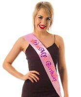 IT'S ITS MY BIRTHDAY Party Happy Pink Girl Flashing Sash Celebration Accessory
