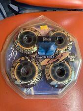 4 New BLACK HOLE Klear Kolor Inline Skate Wheels 76mm Durometer 78A, Red