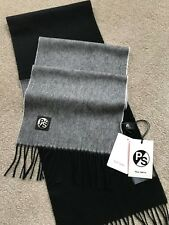 PS PAUL SMITH 50/50 TWO TONE BLACK & GREY LAMBSWOOL SCARF MADE IN ENGLAND BNWT