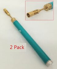 ( 2 ) - Refillable Reusable Butane Pencil Torch Welding Soldering Jewerly Repair