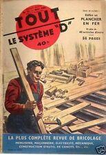 SYSTEME D n°77 édifier un plancher en fer