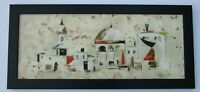 VINTAGE PAINTING IN THE STYLE OF CHARLES LEVIER SIGNED W  POSSIBLE ALIAS MODERN
