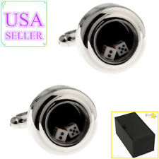 Cuff Links With Gift Box Hot Sale Men Cufflinks Dice Shaking
