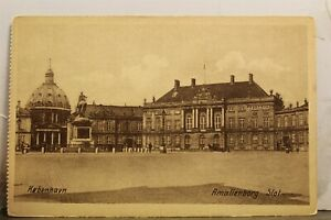 Denmark Copenhagen Kobenhavn Amalienborg Slot Castle Postcard Old Vintage Card