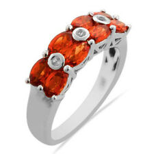 Mexican Orange Fire Opal Infinity Celtic Oval Birthstone Sterling Silver Ring