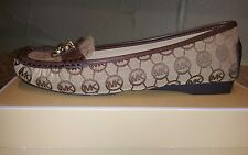 NEW MICHAEL MICHAEL KORS WOMEN'S HAMILTON LOAFER MONOGRAM JACQUARD SHOES SIZE6.5