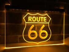 Route 66 Led Neon Sign for Game Room,Office,Bar,Man Cave Garage New