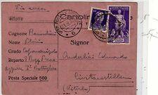 1938 Guerra di Spagna - cartolina aerea c.50 Augusto da posta speciale n.ro 6