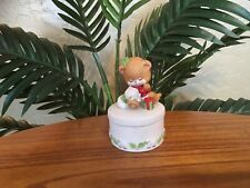 "Vintage George GOOD ""Prayer Bear"" Christmas Porcelain Trinket Box"