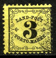 BADEN, RURAL POSTAGE DUE, YEAR 1862, MICHEL # 2x,  CV € 150, USED, (SU263)
