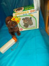 """SNOOPER DOG WITH BUTTERFLY>> BATTERY OPERATED JAPAN BY """"ALPS"""" WITH BOX!"""