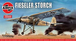 """New Release Airfix 1:72nd """"Vintage Classics"""" Fieseler Storch Model Kit."""