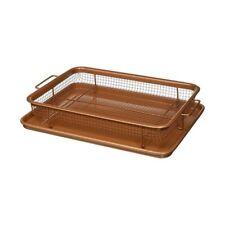Copper Crisper Oven Air Fryer Pan Non Stick Multi-Purpose  Mesh Grill Crisp Tray