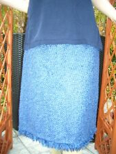 Edler Escada STRICK LUXUS COUTURE Boucle Rock 38/40 royal blau NP980,- oder Gr46