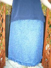 Edler Escada STRICK LUXUS COUTURE Boucle Rock 38/40 royal blau NP980,- oder Gr46