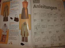 Sabrina Woman S 647 Schnittmuster Zeitschrift für Damen,Gr. 36 - 46