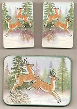 Collectible Playing Cards Wildlife Deer & Tin w/2 Decks Cards Sealed J.S.N.Y.Nip
