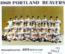 1969 PORTLAND BEAVERS PCL TEAM 8X10 PHOTO  BASEBALL OREGON