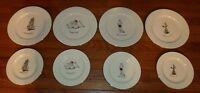 1999 MERRY MASTERPIECES International Collection (4) Dinner  (4)Dessert Plates