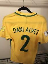 Dani Alves Match Worn Brazil Shirt