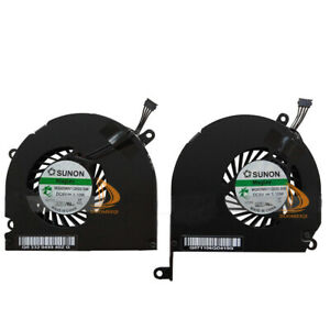 """New Fan Left and Right Side CPU Cooling Fans for 17"""" A1261 2008 MacBook Pro #DD"""
