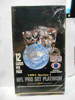 1991 Pro Set Platinum Series 1 Sealed Factory Box 36 Packs NFL Football Cards