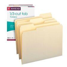 Smead Manila File Folders 100 per Box Letter Size 1/3 Cut Tab
