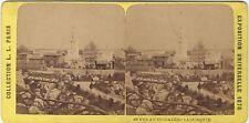 Exposition universelle de Paris 1878 Trocadéro Mosquée Photo Stéréo Vintage